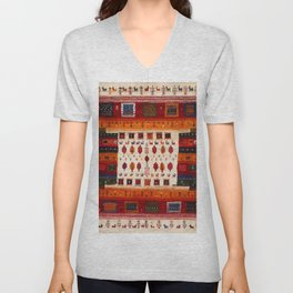 Antique Traditional Moroccan Style Unisex V-Neck