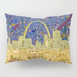 st louis city skyline Pillow Sham