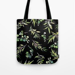 Eucalyptus and Olive Pattern  Tote Bag