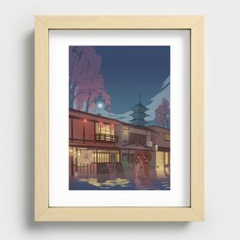 Kyoto at night Recessed Framed Print