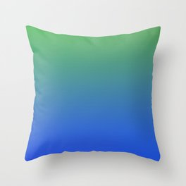 RESTING STATE - Minimal Plain Soft Mood Color Blend Prints Throw Pillow
