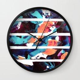 Abstract fusion of colors Wall Clock