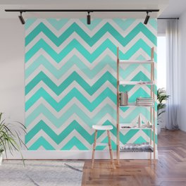 Shades of Turquoise  Wall Mural