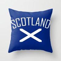 scotland Throw Pillows featuring Scotland by Earl of Grey