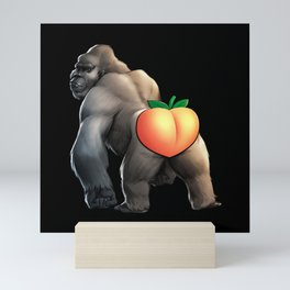 Silverback Peach Mini Art Print