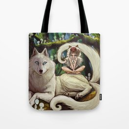 Wolf Princess in the Forest Tote Bag