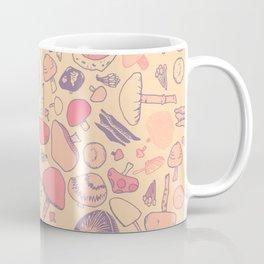 Vintage Mushroom Pattern Coffee Mug