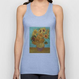 Vincent Van Gogh Twelve Sunflowers In A Vase Unisex Tank Top