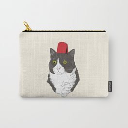 Fez Hat Cat Carry-All Pouch