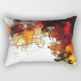 Orange Nordic / Scandinavian Art in Abstract Style Rectangular Pillow