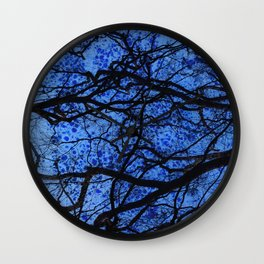Entwined Branches And Marble Wall Clock