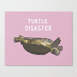 Turtle Disaster Canvas Print