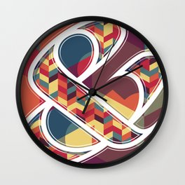 Chevron Ampersand Wall Clock