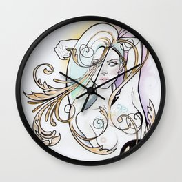 Golden Dream Wall Clock