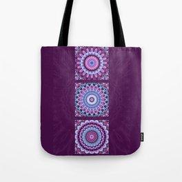 Mandala Collage violett Tote Bag