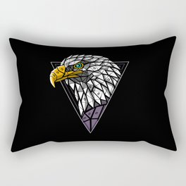 Cyber Eagle Punk Rectangular Pillow