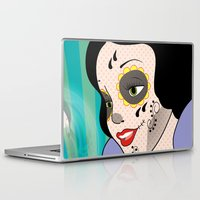 snow white Laptop & iPad Skins featuring Snow White  by mark ashkenazi