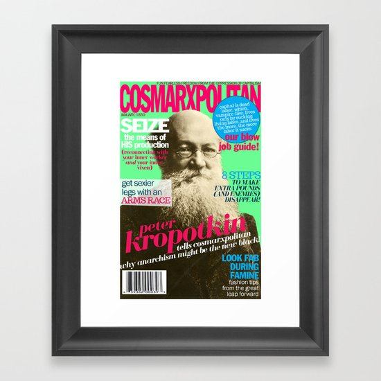 COSMARXPOLITAN, Issue 6 Framed Art Print