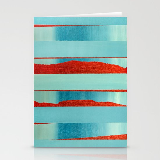 Blue Edge Stationery Cards