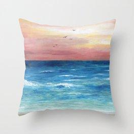 Sea View 269 Throw Pillow