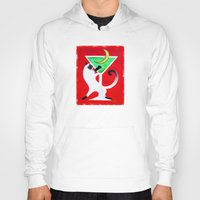 martini Hoodies featuring Moon Martini by Gem S Visionary