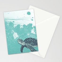 Sea Foam Sea Turtle Stationery Cards