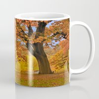 wes anderson Mugs featuring Fall at Larz Anderson by LudaNayvelt