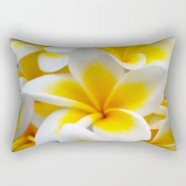 Frangipani halo of flowers Rectangular Pillow