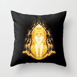 totem of sacred fire fox Throw Pillow