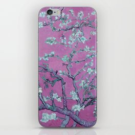 """Vincent van Gogh """"Almond Blossoms"""" (edited pink) iPhone Skin"""