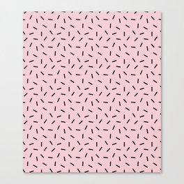 Postmodern Funfetti in Pink + Black Canvas Print