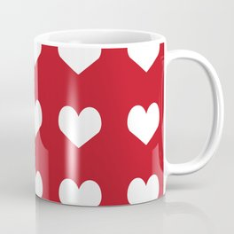Hearts red and white minimal valentines day love gifts minimal gender neutral Coffee Mug