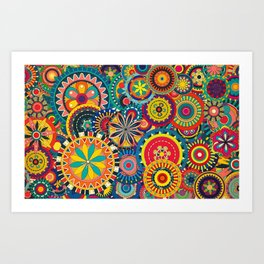 Colours ! Art Print