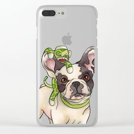 Bubba & Monkey Clear iPhone Case
