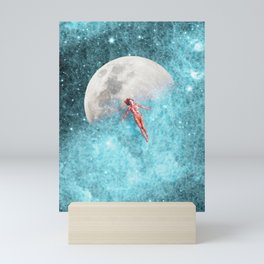 FLOATING TO THE MOON Mini Art Print