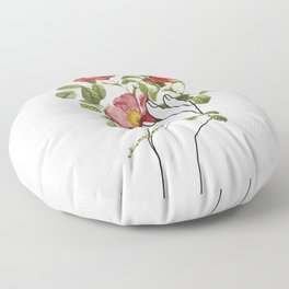 Flower in the Hand II Floor Pillow