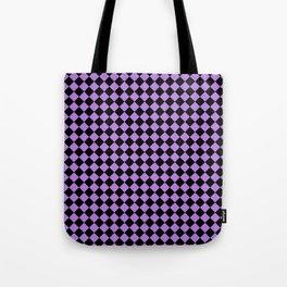 Black and Lavender Violet Diamonds Tote Bag