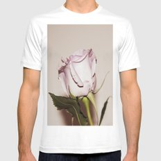 Last Rose White Mens Fitted Tee MEDIUM