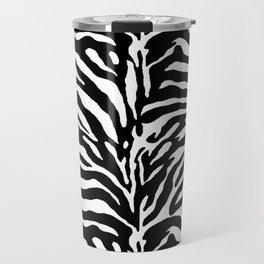 Wild Animal Print, Zebra in Black and White Travel Mug