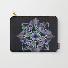 Teal and Purple Mandala Carry-All Pouch