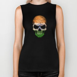 Dark Skull with Flag of India Biker Tank