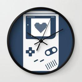 Gameboy navy Wall Clock