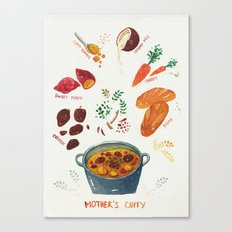 mother's curry  Canvas Print