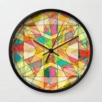 kaleidoscope Wall Clocks featuring Kaleidoscope by Tammy Kushnir