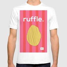 Ruffle MEDIUM Mens Fitted Tee White