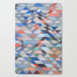 Triangle Pattern No. 7 Diagonals Cutting Board