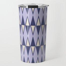 Mid Century Modern Diamond Pattern Lavender 232 Travel Mug