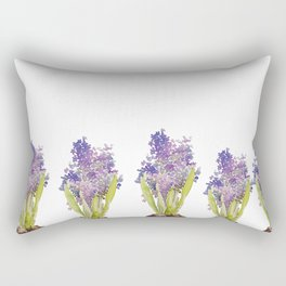 Hyacinth - watercolor  Rectangular Pillow