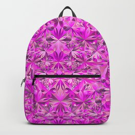 Contemporary Pink Seamless Gradient Elegant Triangle Floral Pattern Backpack