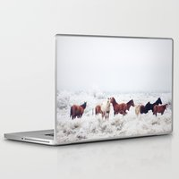 large Laptop & iPad Skins featuring Winter Horseland by Kevin Russ